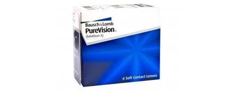 עדשות מגע חודשיות פיור וויז'ן PureVision