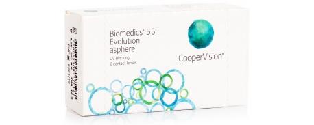 עדשות מגע חודשיות ביומדיקס 55 אבולושיין Biomedics 55 Evolution