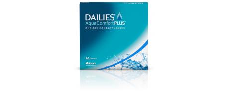עדשות מגע דייליס אקווה קומפורט פלוס *במבצע- מתנה* Dailies AquaComfort Plus 90pck