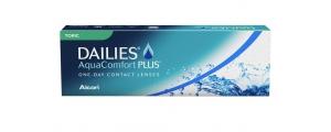 עדשות מגע יומיות טוריות דייליס אקווה קומפורט פלוס Focus Dailies AquaComfort Plus Toric