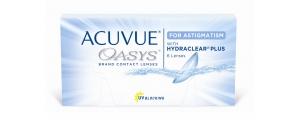 עדשות מגע דו שבועיות טוריות אקיוביו אואזיס Acuvue Oasys For Astigmatism