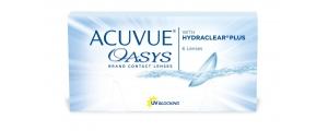 עדשות מגע דו שבועיות אקיוביו אואזיס *במבצע 3+1* ACUVUE OASYS